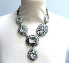 Butler and Wilson Clear Crystal Elaborate Y Shape Necklace NEW