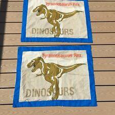 Tyrannosaurus Rex Pillow Standard Sham Dinosaur Striped Colorful Back        A19