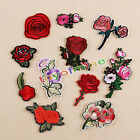 11Pcs Embroidery Rose Flower Sew Iron On Home Patch Badge Bag Hat Dress Applique