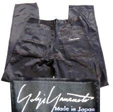 Yohji Yamamoto BLACK satin pant jean VINTAGE goth zipper pocket white stitch mod