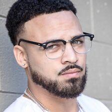 New Clear Lens Glasses Men Women Nerd Horn Frame Fashion Eyewear Designer Retro