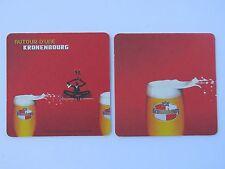 2005 Beer Coaster >< Brasserie KRONENBOURG Founded in 1664 in Strasbourg, FRANCE
