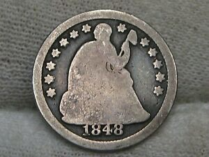 1848-o Better Date Seated LIBERTY Half Dime.  #5