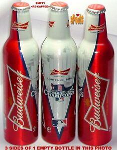 2013 WORLD CHAMPS BOSTON RED SOX MLB BASEBALL BUDWEISER BEER ALUMINUM BOTTLE-CAN