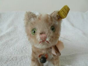 """Rare Steiff 5"""" Tapsy Kitten Early 1950s 52-53 With All IDs in Lovely Condition"""