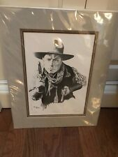 """Vintage """"Bill"""" Western Limited Edition Print Signed by Artist Larry Bees"""