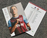 West Ham v Charlton Athletic CARABAO CUP 2ND ROUND 15/9/2020 READY TO POST!!!