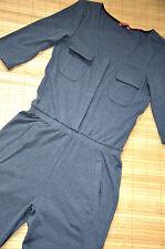 ESPRIT EDC schöner Overall Jumpsuits Gr. S neu Grau 3/4 lange Ärmel