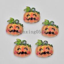 10pcs Resin hand painting Christmas pumpkin Flatback stone child scrapbook craft