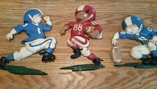 Vintage Set Of 3 1976 Cast Metal Homco Usa Football Players Wall Plaque