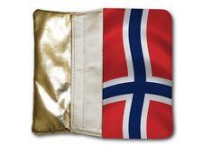 Bolso Mujer Oro Monedero Noruega Bandera
