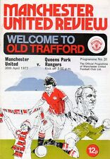 Manchester United v QPR 30.4.1977 1st signs of rust on staples
