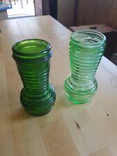 DDR / Vasen / Set / 70er Jahre / Glas / grün / Retro
