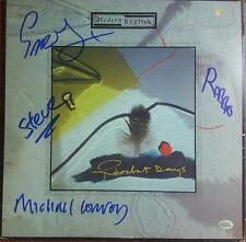Modern English Group Signed Album Grey McDonald Conroy Walker TD Authentic