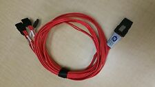 Molex 1m iPass Mini-SAS SFF-8087 Male to 4x SATA Ports Cable 79576-3005