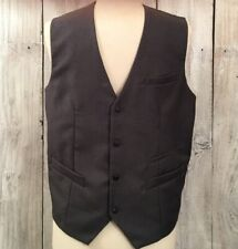 THELEES CLASSIC GRAY SUIT VEST waistcoat WATCH POCKET Victorian Steampunk 40 M L