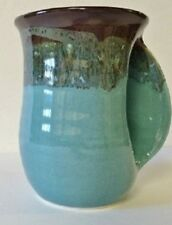 Hand Warmer Mug Ocean Tide Right Hand by Clay In Motion Pottery