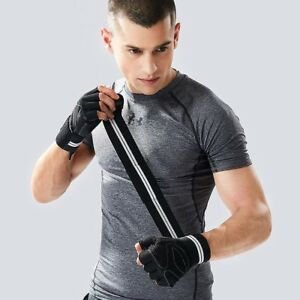 Training Grip Wrist Wrap Weightlifting Gloves Full Palm Protection ANTI-SWEAT