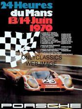 1970 Lemans SCCA Auto Racing 12x16 Poster Porsche 917 Sports Car Steve McQueen