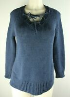 Anthropologie Moth Blue Knit Cardigan Sweater XS A3