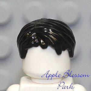 NEW Lego City Minifig Boy Short BLACK HAIR Male Head Gear Star Wars/Police Agent