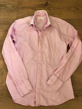 "Pink Men's William Hunt Shirt With White Collar, 16"" Neck"
