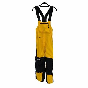 The North Face Goretex Bib Mens XS Yellow Black Vintage Suspenders Overalls Pant