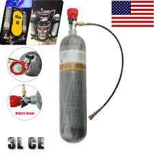 4500psi 3L Ce 30cft Carbon Fiber Cylinder Paintball Tank&Valve Hunting Game Us