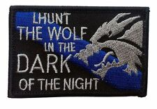 HUNT THE WOLF DARK KNIGHT  EMROIDERED 3 INCH COMBAT HOOK LOOP  PATCH