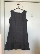 Review navy and white spec sleeveless dress in size 10