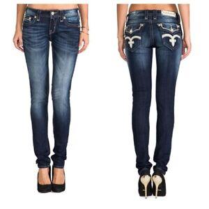 Rock Revival Vicky Skinny Jeans Dark Wash Style RJ840753 Size 30