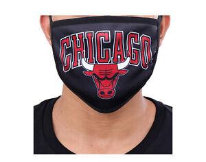 Pro Standard NBA Chicago Bulls Black Face Covering Mask - 2 Pack BCB751329-BLK