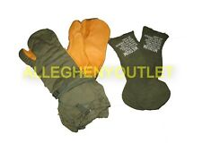 US Military OD TRIGGER FIGGER MITTENS GLOVES N/L w/ Liners Inserts MED & LRG NEW