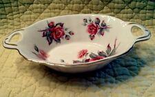 Royal Albert Bone China England Centennial Rose Oval Relish Dish Gold Trim BB