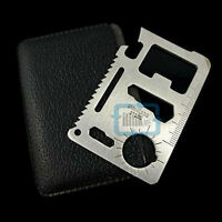 11 In 1 Multi Credit Card Knife Outdoor Survival Camping Tool Pocket Knife