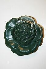 Vintage Flower Shaped Green/Gray Mid Century Belt Buckle Beverly Hills CA ROSE