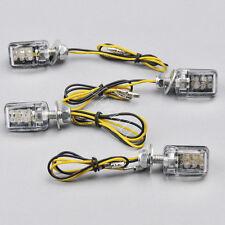 4x 6 LED Motorcycle Mini Turn Signal Blinker Indicators Light Lamp Universal 12V