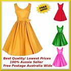 Womens Rockabilly Vintage 40s 50s Retro Swing Formal Evening Party Dress Plus Sz