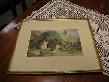"Vintage ""Frederick John Skill"" 1850's Original Watercolor Size : 9 3/8"" x 6 3/8"""