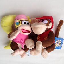 "2X Super Mario Bros Donkey Female Dixie Diddy Kong Stuffed Animal Plush Toy 7"""