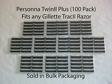 100 Razor Blades That Fit Twins2 (twin II) Razor Blade