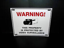 NEW CCTV SURVEILLANCE SECURITY STORE VIDEO CAMERA WARNING YARD FENCE WINDOW SIGN