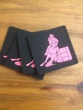 Barrel Racing pink And Black Coasters