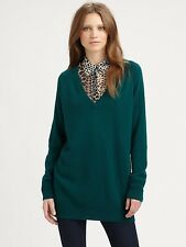 NEW Equipment Green pine Cashmere V neck Cecile Sweater Size XS $288