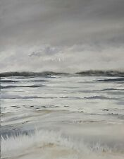 More details for original seascape painting on canvas ready to hang
