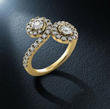 Halo .85 Carat SI1/J Round Cut Real Diamond Engagement Ring Yellow Gold