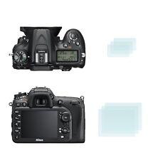 2 x Membrane Screen Protectors for Nikon D7200 - Glossy Cover Guard