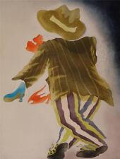 """Charlotte Reine """" Pas de Deux """" original limited edition etching 1987 s/n"""