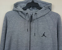 NIKE AIR JORDAN WINGS FLEECE HOODIE SWEATSHIRT GREY BLACK 860196-091 (SIZE 4XL)