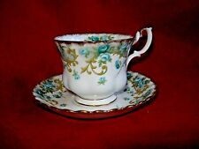 Vintage Royal Albert, Veronica, Sheraton Series Footed Cup and Saucer, England